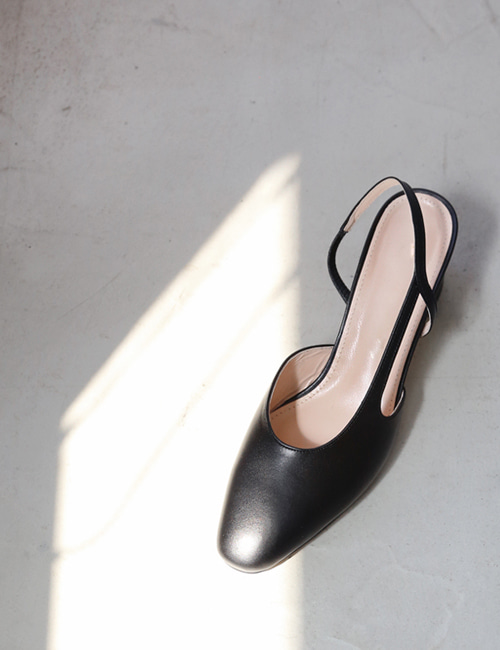 BLACK SLING BACK SHOES