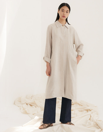FLAT LINEN TRENCH