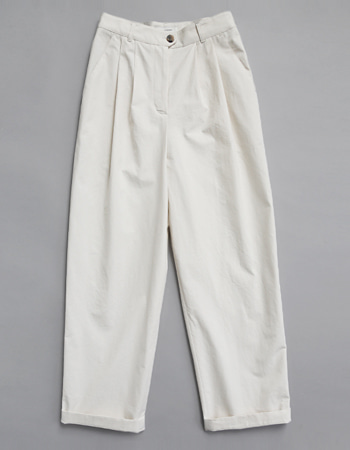 FLAT COTTON PANTS