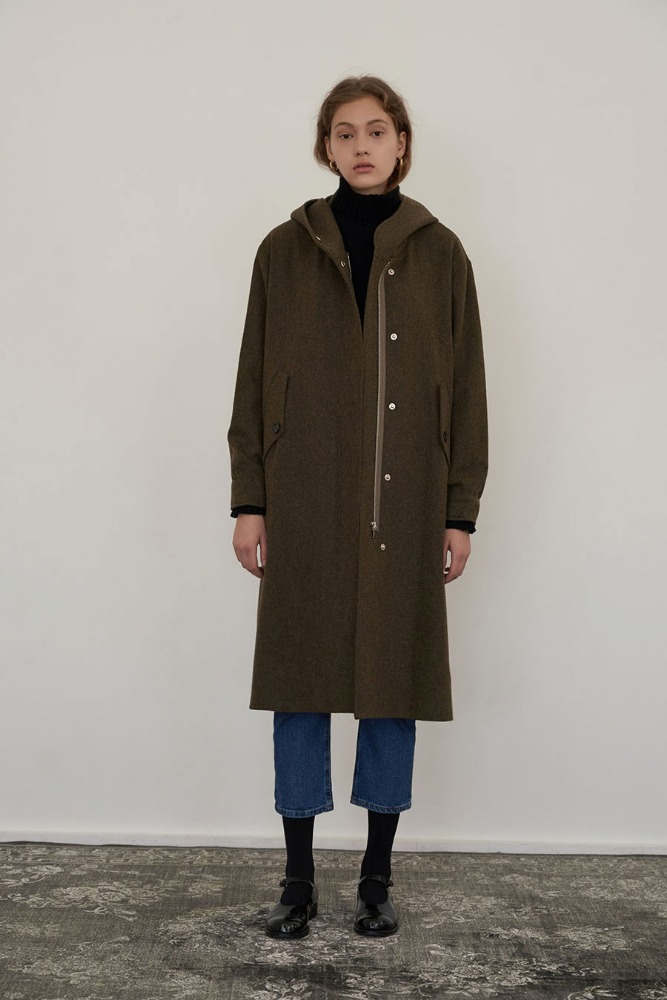 FLAT BOUT WOOL TRENCH