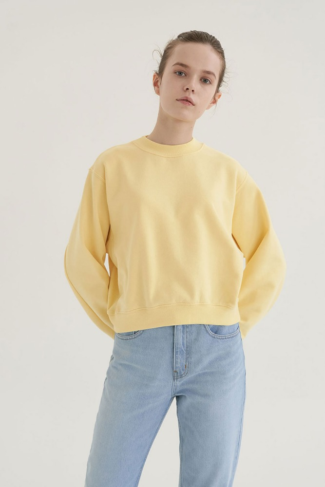 SHORTY  SWEATSHIRT in Lemon