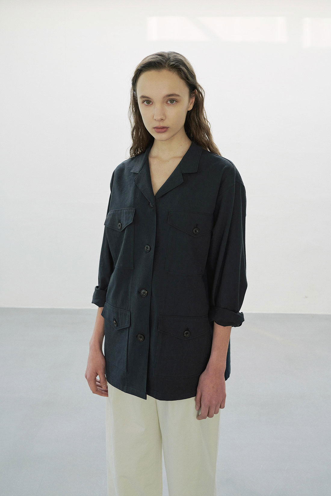 Spend Field Jacket(Navy)
